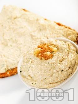 Домашен грахов пастет / разядка с орехи и извара - снимка на рецептата